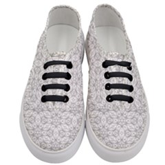 Background Wall Stone Carved White Women s Classic Low Top Sneakers