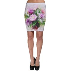 Flowers Roses Bouquet Art Nature Bodycon Skirt