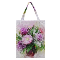 Flowers Roses Bouquet Art Nature Classic Tote Bag