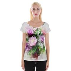 Flowers Roses Bouquet Art Nature Cap Sleeve Tops