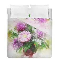 Flowers Roses Bouquet Art Nature Duvet Cover Double Side (full/ Double Size)