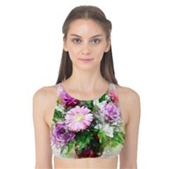 Flowers Roses Bouquet Art Nature Tank Bikini Top