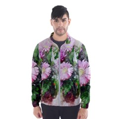 Flowers Roses Bouquet Art Nature Wind Breaker (men)