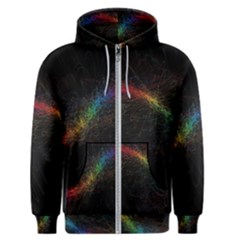 Background Light Glow Lines Colors Men s Zipper Hoodie