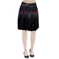 Background Light Glow Lines Colors Pleated Skirt