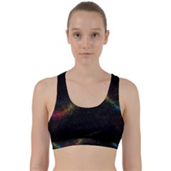 Background Light Glow Lines Colors Back Weave Sports Bra