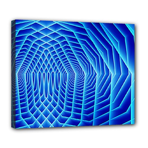 Blue Background Light Glow Abstract Art Deluxe Canvas 24  X 20