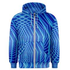 Blue Background Light Glow Abstract Art Men s Zipper Hoodie