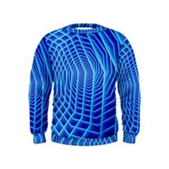 Blue Background Light Glow Abstract Art Kids  Sweatshirt