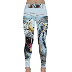 Tiger Animal Art Swirl Decorative Classic Yoga Leggings