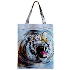 Tiger Animal Art Swirl Decorative Zipper Classic Tote Bag