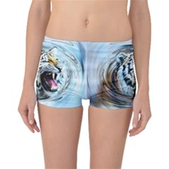 Tiger Animal Art Swirl Decorative Boyleg Bikini Bottoms