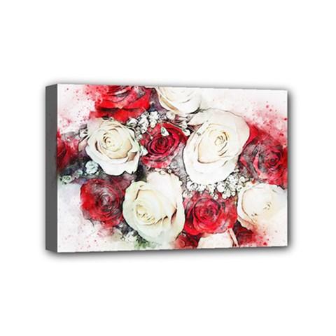 Flowers Roses Bouquet Art Nature Mini Canvas 6  X 4