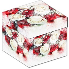 Flowers Roses Bouquet Art Nature Storage Stool 12