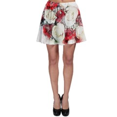 Flowers Roses Bouquet Art Nature Skater Skirt
