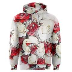 Flowers Roses Bouquet Art Nature Men s Pullover Hoodie