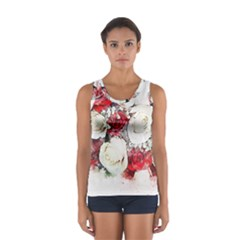 Flowers Roses Bouquet Art Nature Sport Tank Top