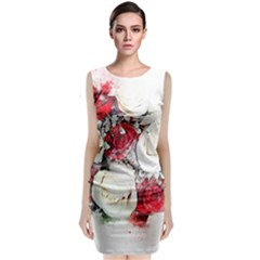 Flowers Roses Bouquet Art Nature Classic Sleeveless Midi Dress