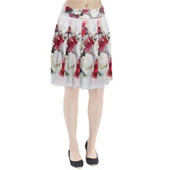 Flowers Roses Bouquet Art Nature Pleated Skirt