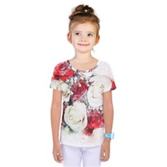Flowers Roses Bouquet Art Nature Kids  One Piece Tee