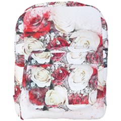 Flowers Roses Bouquet Art Nature Full Print Backpack by Nexatart