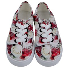Flowers Roses Bouquet Art Nature Kids  Classic Low Top Sneakers