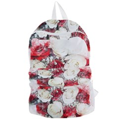 Flowers Roses Bouquet Art Nature Foldable Lightweight Backpack by Nexatart