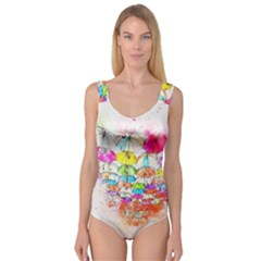 Umbrella Art Abstract Watercolor Princess Tank Leotard