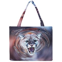 Cougar Animal Art Swirl Decorative Mini Tote Bag by Nexatart