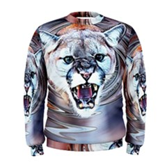 Cougar Animal Art Swirl Decorative Men s Sweatshirt