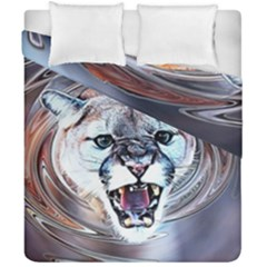 Cougar Animal Art Swirl Decorative Duvet Cover Double Side (california King Size)