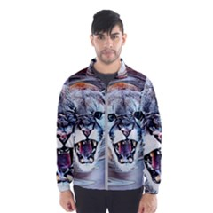Cougar Animal Art Swirl Decorative Wind Breaker (men)