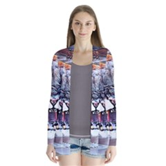 Cougar Animal Art Swirl Decorative Drape Collar Cardigan by Nexatart