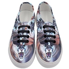 Cougar Animal Art Swirl Decorative Women s Classic Low Top Sneakers