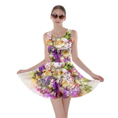 Flowers Bouquet Art Nature Skater Dress