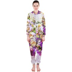 Flowers Bouquet Art Nature Hooded Jumpsuit (ladies)