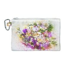 Flowers Bouquet Art Nature Canvas Cosmetic Bag (medium)