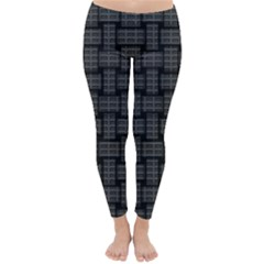 Background Weaving Black Metal Classic Winter Leggings