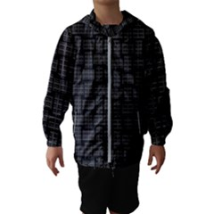 Background Weaving Black Metal Hooded Wind Breaker (kids)