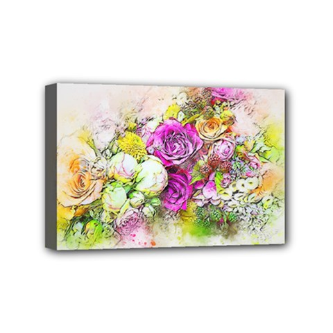 Flowers Bouquet Art Nature Mini Canvas 6  X 4  by Nexatart