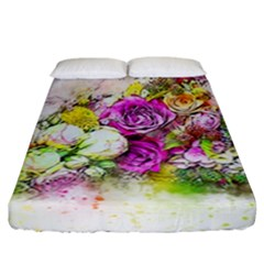 Flowers Bouquet Art Nature Fitted Sheet (california King Size)