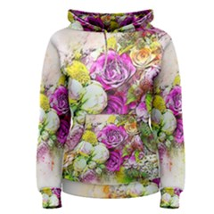 Flowers Bouquet Art Nature Women s Pullover Hoodie