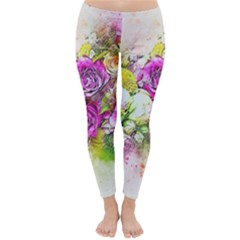 Flowers Bouquet Art Nature Classic Winter Leggings