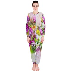 Flowers Bouquet Art Nature Onepiece Jumpsuit (ladies)