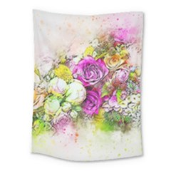 Flowers Bouquet Art Nature Medium Tapestry