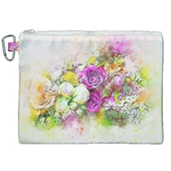 Flowers Bouquet Art Nature Canvas Cosmetic Bag (xxl) by Nexatart