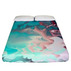 Background Art Abstract Watercolor Fitted Sheet (king Size)