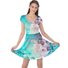 Background Art Abstract Watercolor Cap Sleeve Dress