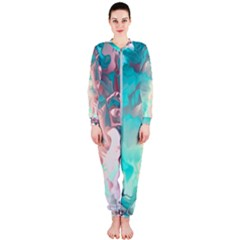 Background Art Abstract Watercolor Onepiece Jumpsuit (ladies)