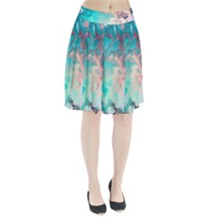 Background Art Abstract Watercolor Pleated Skirt